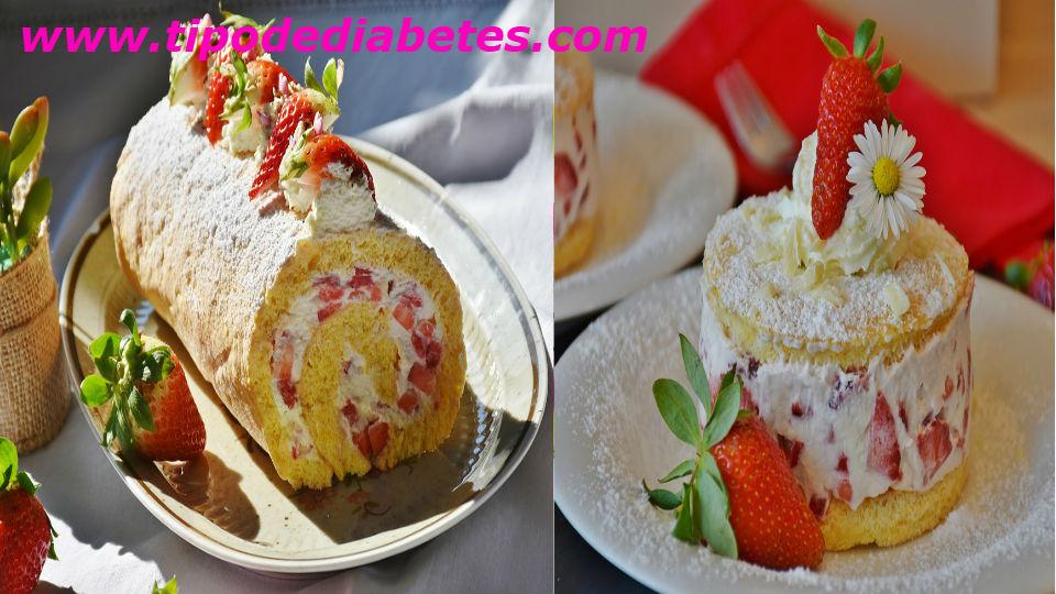 Pastel de fresa enrollado para diabéticos tipo 2 delicioso y fácil de prepararEsta receta de pastel de fresa enrollado lo puedes consumir cada 15 días como